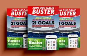 football buster game posters - claim yours
